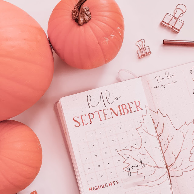 Plan With Me September Bullet Journal Layouts