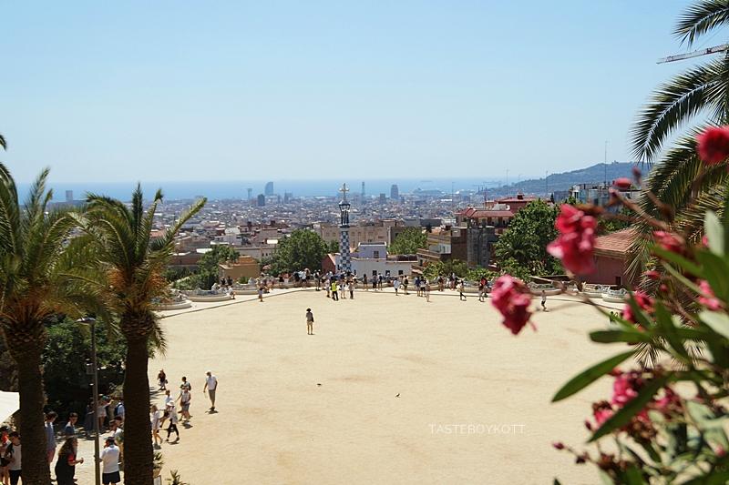 Blick von Gaudis Park Güell - Barcelona-Reise im Sommer | Tasteboykott