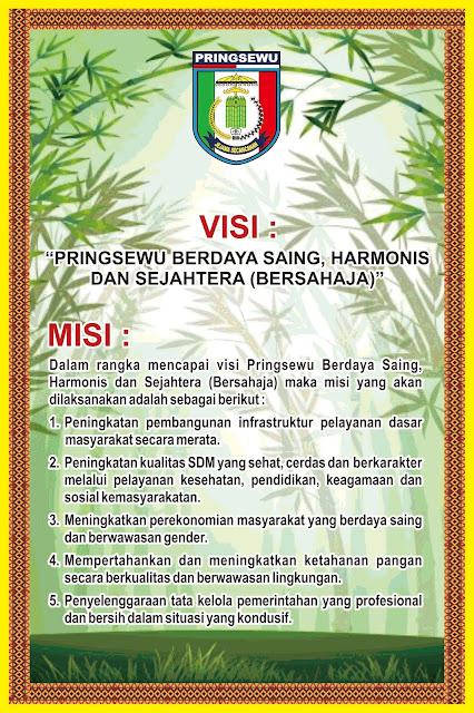 Desain Banner Visi Misi Kab Pringsewu