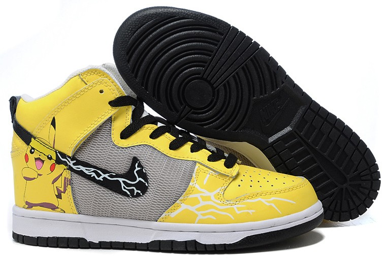 new product 867d1 cb286 Pikachu Nike Dunks Nike Dunk High Top Pikachu Pokemon Yellow