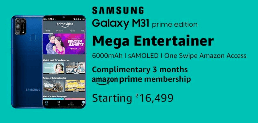 Promotional Ad of the Galaxy M31 Prime Edition