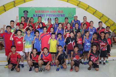 Sujadi Buka Kejuaraan Ping Pong Kajari Pringsewu Cup I