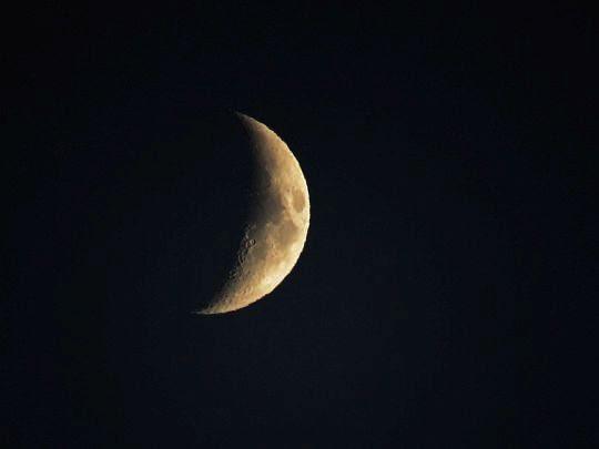 Sierp księżyca.