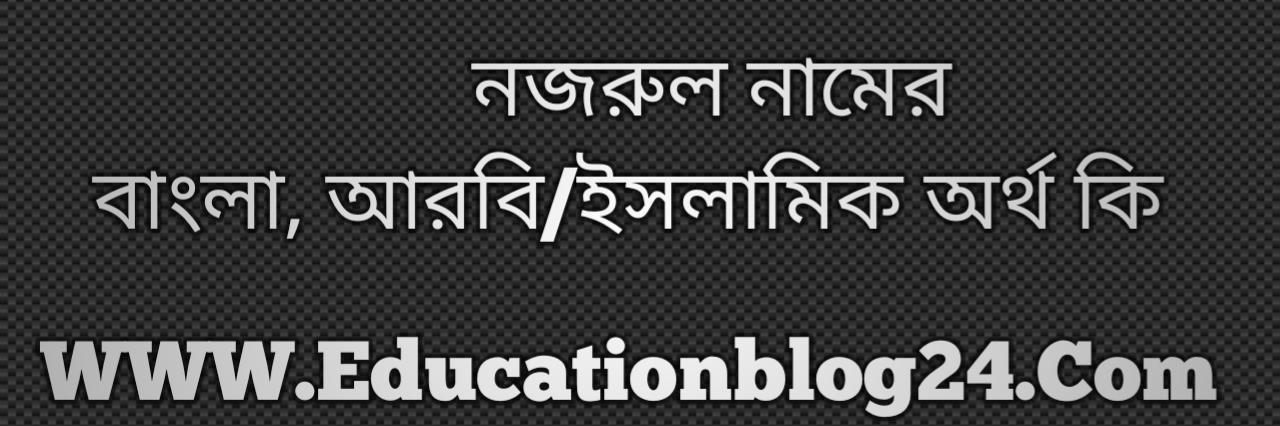 Nazrul name meaning in Bengali, নজরুল নামের অর্থ কি, নজরুল নামের বাংলা অর্থ কি, নজরুল নামের ইসলামিক অর্থ কি, নজরুল কি ইসলামিক /আরবি নাম
