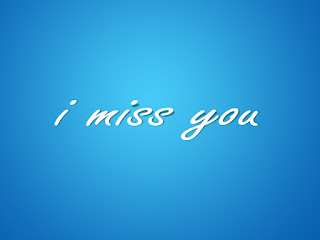 pic of i miss you with sky blue background