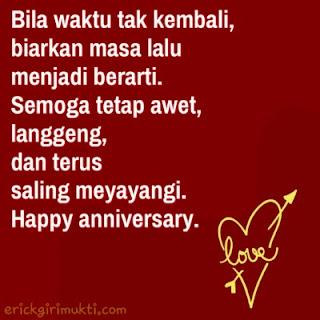 kata kata happy anniversary saling menyayangi