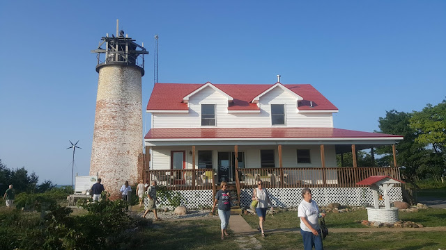 Charity Lighthouse and Tower with guests in front