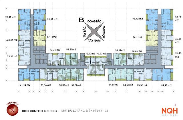 Thiết kế căn hộ chung cư Anland.