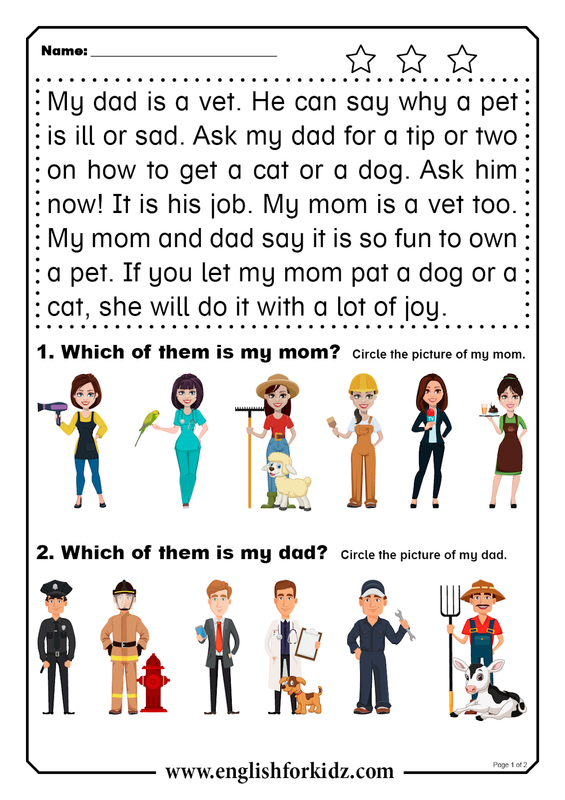- Reading Comprehension Worksheets: Short Word Stories