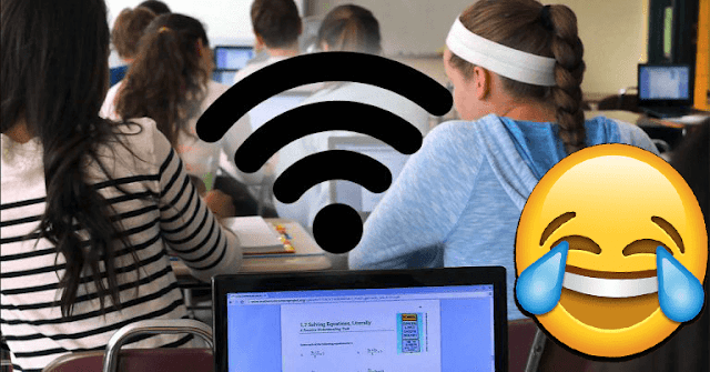 students broke through the school's wi-fi and missed it to avoid taking exams
