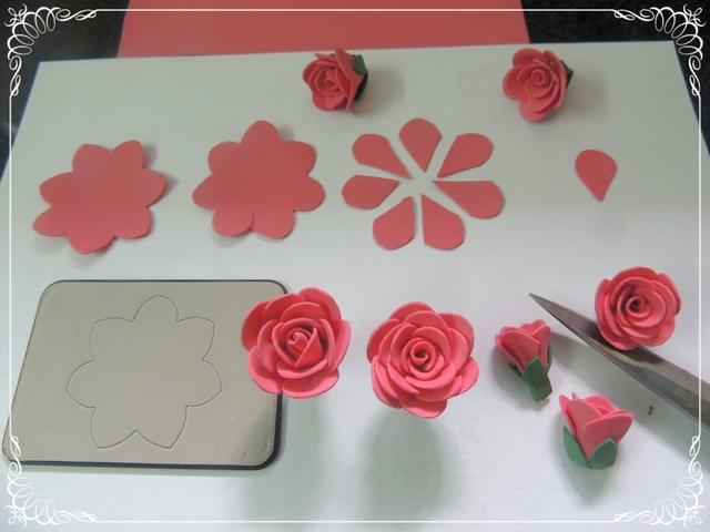 cards crafts kids projects handmade foam rose flower