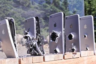 Inilah Bentuk Iphone 6 Yang Ditembak Peluru