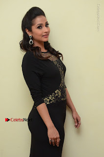 Telugu Actress Manasa Manohar Stills in Black Long Dress at Naku Nene Thopu Turumu Trailer Launch  0041.JPG