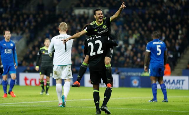 Goll ketiga Chelsea oleh Pedro Membobol Gawang Leicester
