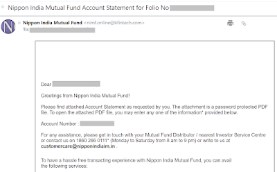 Reliance Mutual Fund - Online Account Statement
