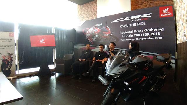 Resmi Mengaspal di Sumsel, New Honda CBR150R Bidik Generasi Milenia