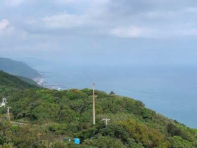 室戸スカイライン山頂展望台から東を見る