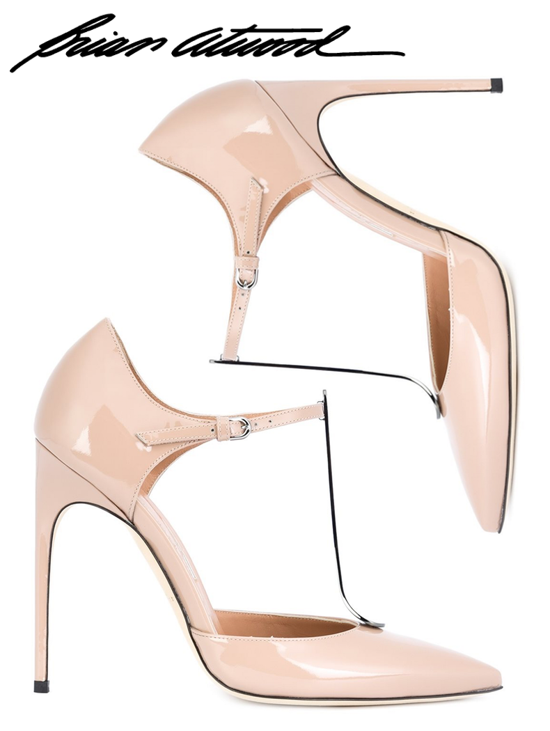 Brain Atwood T-Strap Pump in Nude