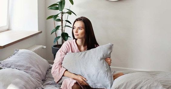 light grey pillowcase