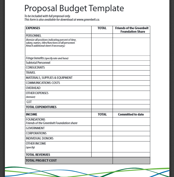 not for profit budget template - document templates free printable basic budget proposal