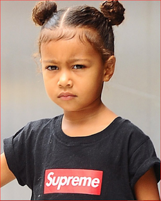 Like father, like daughter! Fierce new photo of North West