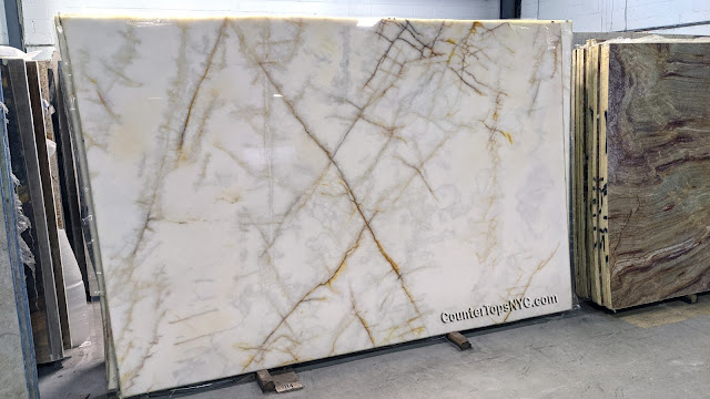 Cristallo Quartzite Slabs for Countertop NYC