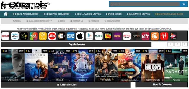 ExtraMovies 2021, Hindi Dubbed Hollywood, Bollywood 300MB