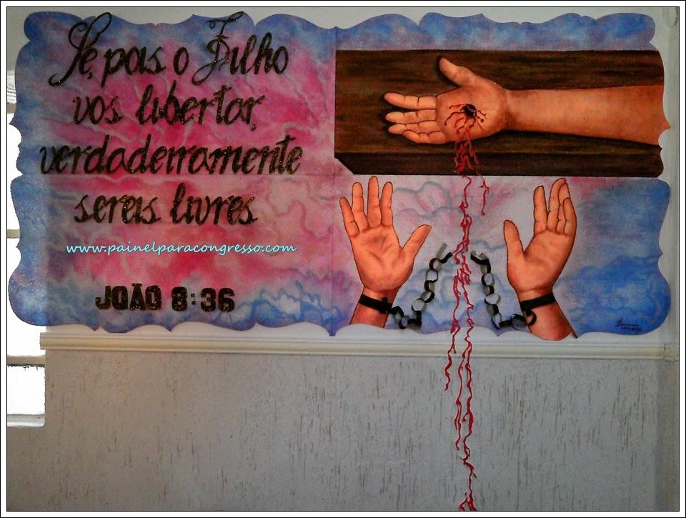 pintura em isopor   festividade de adolescentes  -  João 8:36