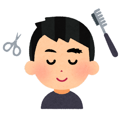 眉毛カットのイラスト(男性)