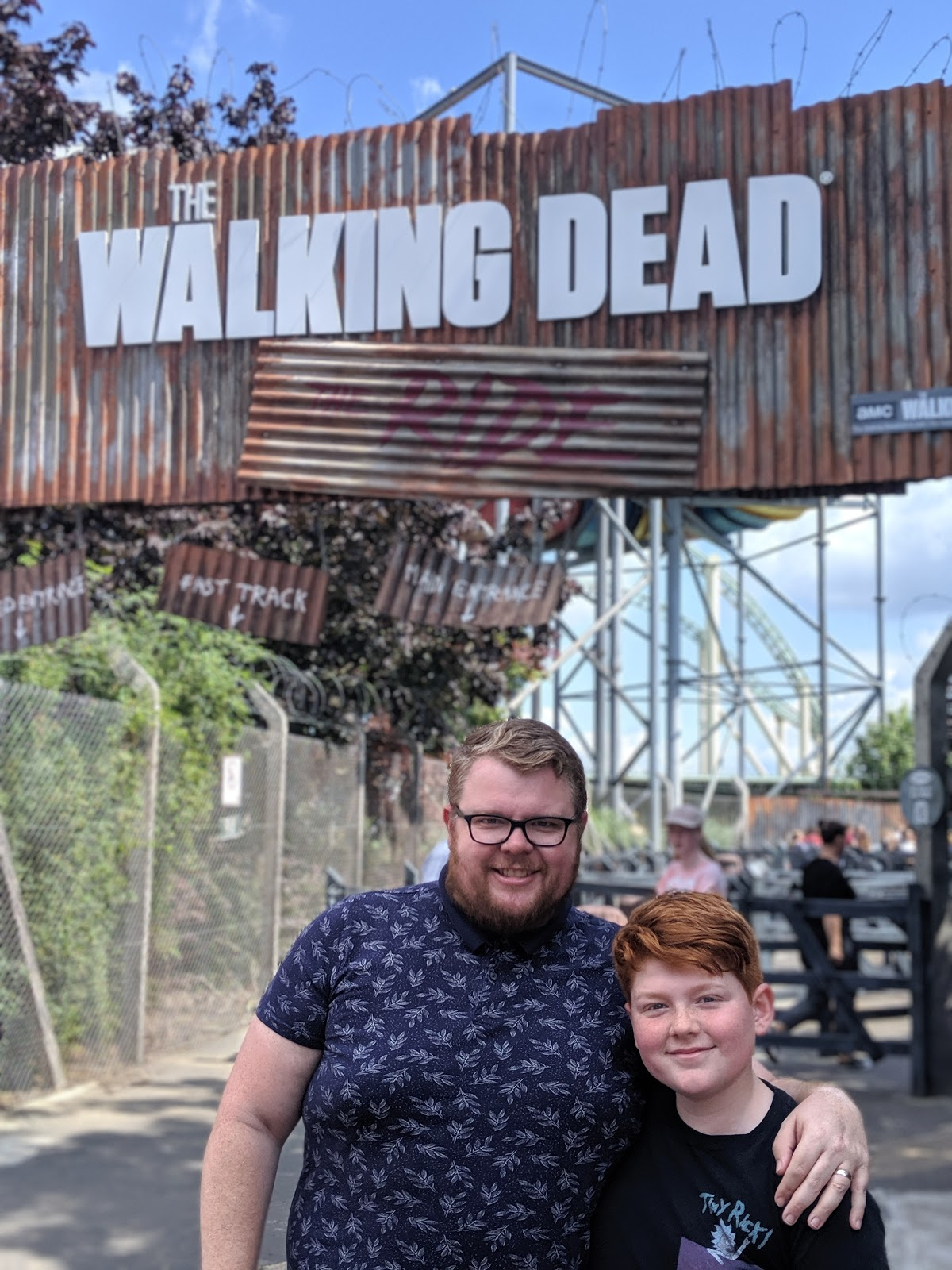 Exploring the Southern Merlin Theme Parks with Tweens  - The Walking Dead Ride at Thorpe Park