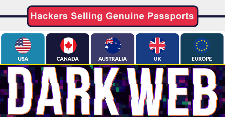 Hackers Selling Genuine Passports and ID/Social Security Card Under $1000 on Dark Web