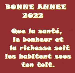 Messages pour souhaiter  bonne année 2022