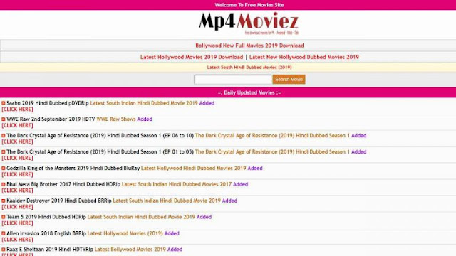 Mp4moviez is one of the best website in recent fir downloading latest and old movies in high quality .it is a very simple way if downloadings. It is really a awsone site guys.go and download from Mp4moviez.cc. ... I'm use this site for download bollywood and hollywood movies from this ... Free Download All movies,Hollywood Hindi Dubbed, South Hindi,Punjabi,Bengali,Marathi all category movies,Download high quality movies for mobile android.Latest mp4moviez hd movies Videos: Watch all mp4moviez hd movies latest videos & popular mp4moviez hd movies...