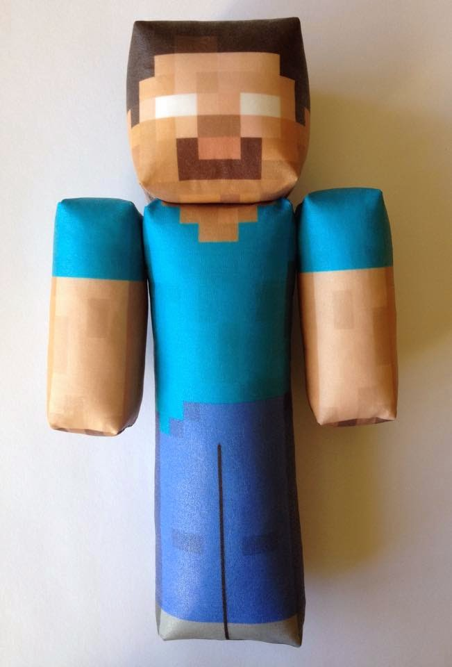 "CraftingNerdy: 8"" Herobrine Custom Plush Toy"