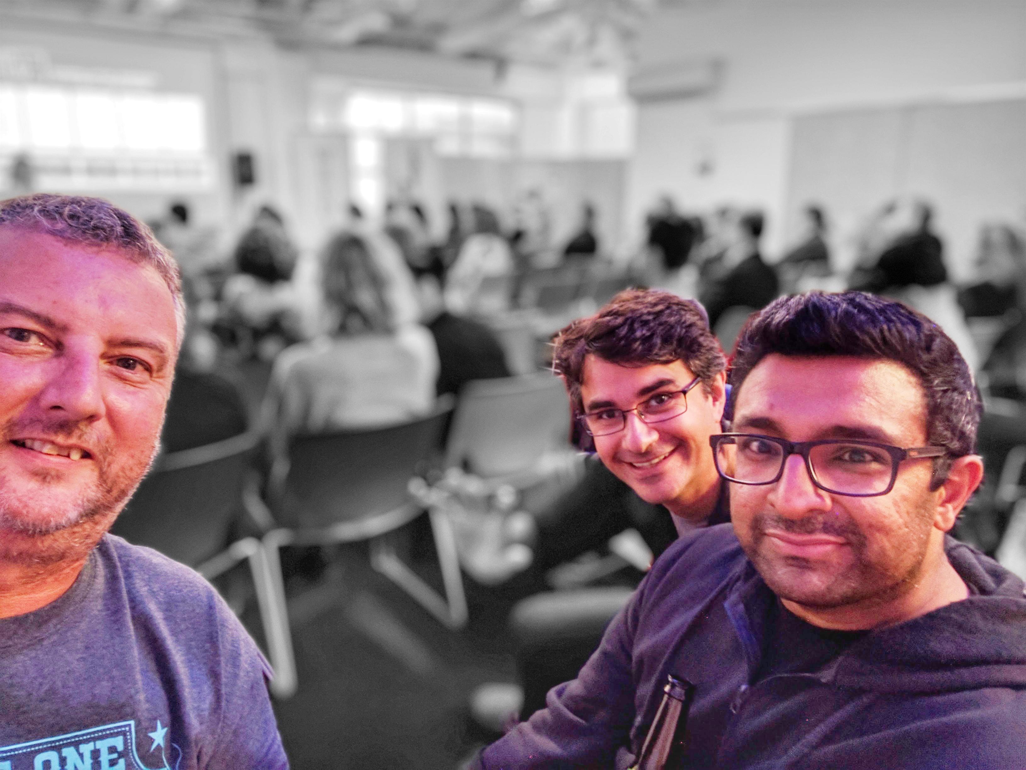 Mike, Dan, and Raj at the 2017 TechWeekNZ launch