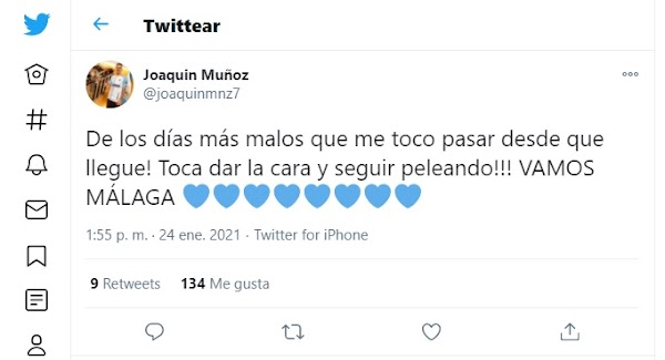"""Málaga, la plantilla: """"Toca dar la cara y seguir peleando"""""""