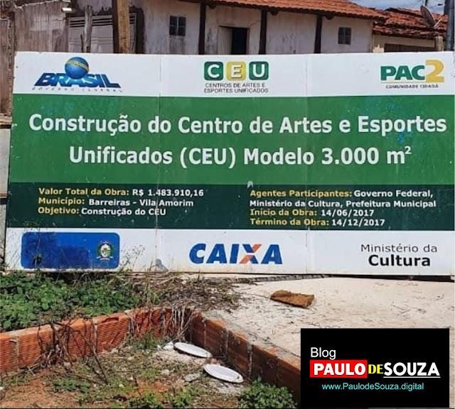 Fiscalização em Ação: Visita a construção do CEU e denúncia de cisterna aberta
