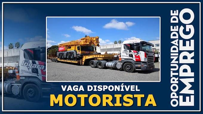 Irigaray Guindastes e Transportes abre vagas para Motorista Carreteiro