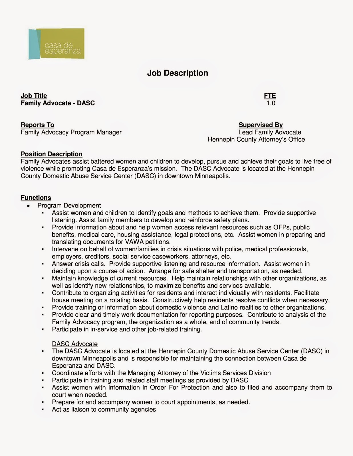 Family Advocate Resume Sample. resume administrative coordinator ...