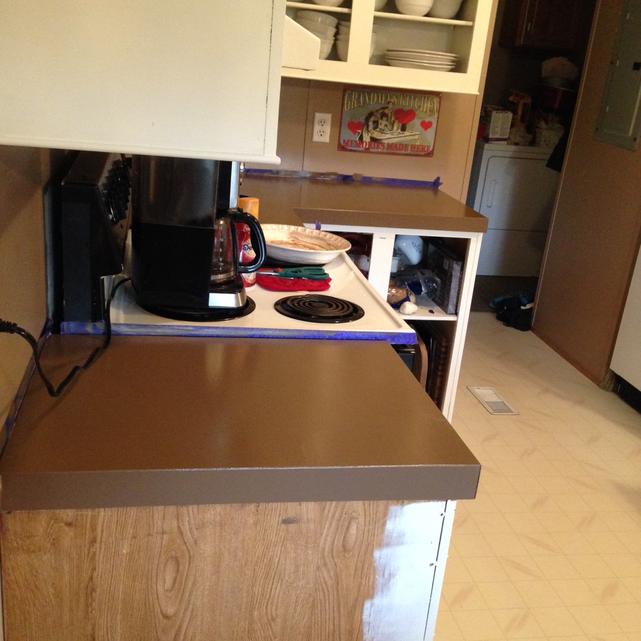 rust oleum countertop coating putty how we updated a kitchen in 6 days for 900 part 1 762