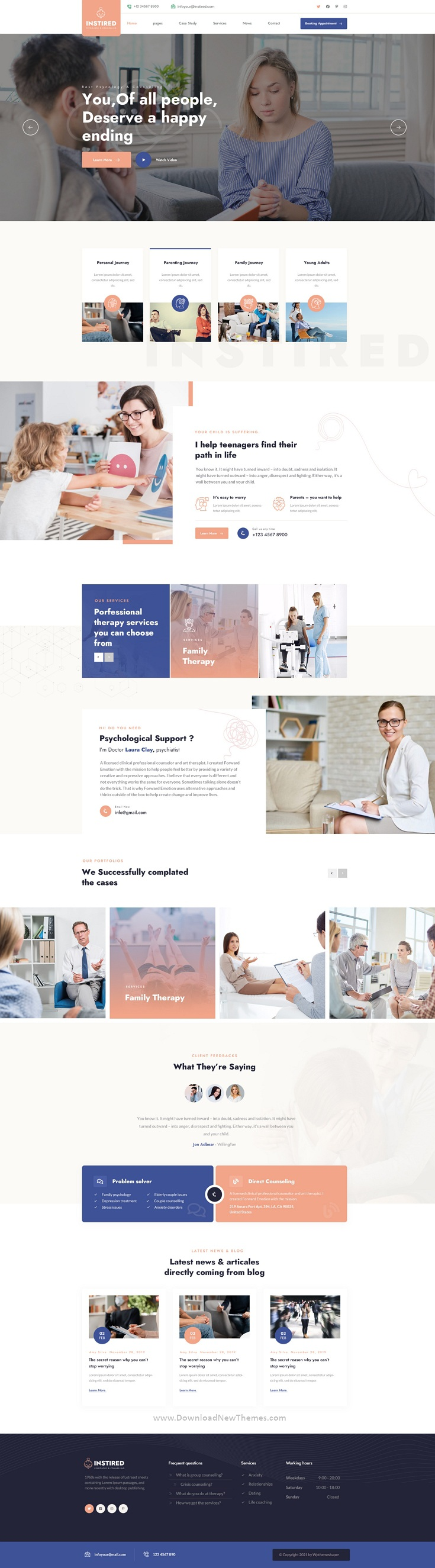 Psychology and Counseling PSD Template