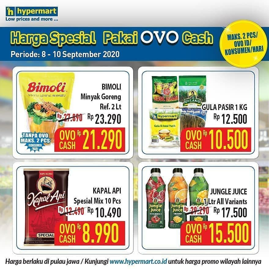 Hypermart Promo Harga Spesial Pakai Ovo Cash Periode 8 - 10 September 2020