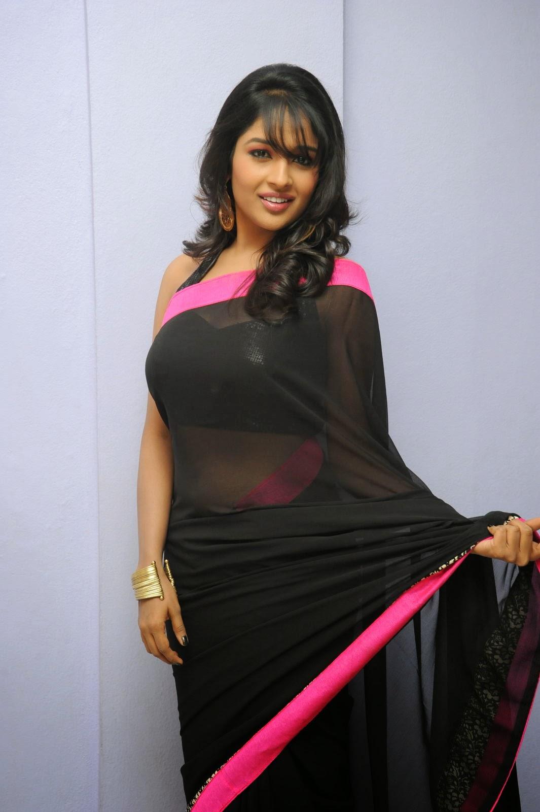 Isha Ranganath glam pics in saree-HQ-Photo-18