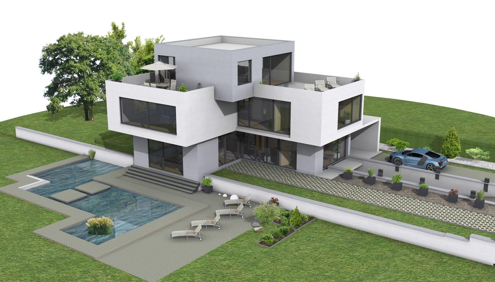moderne villen grundriss | minimalistische haus design - Moderne Villen