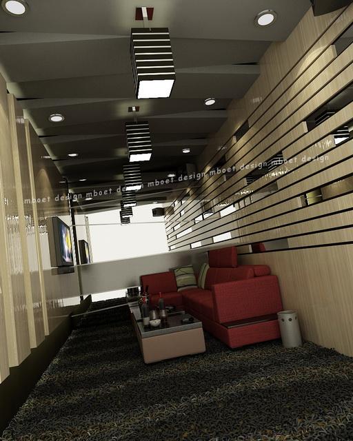 Semicircular Ktv Room Interior Design: Mboet Design: Karaoke Room