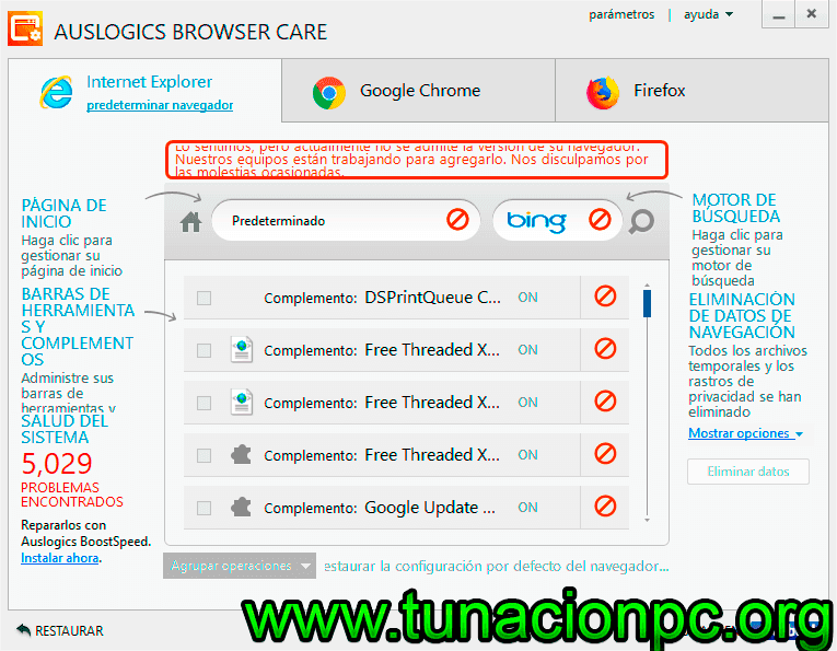 Auslogics Browser Care con Licencia