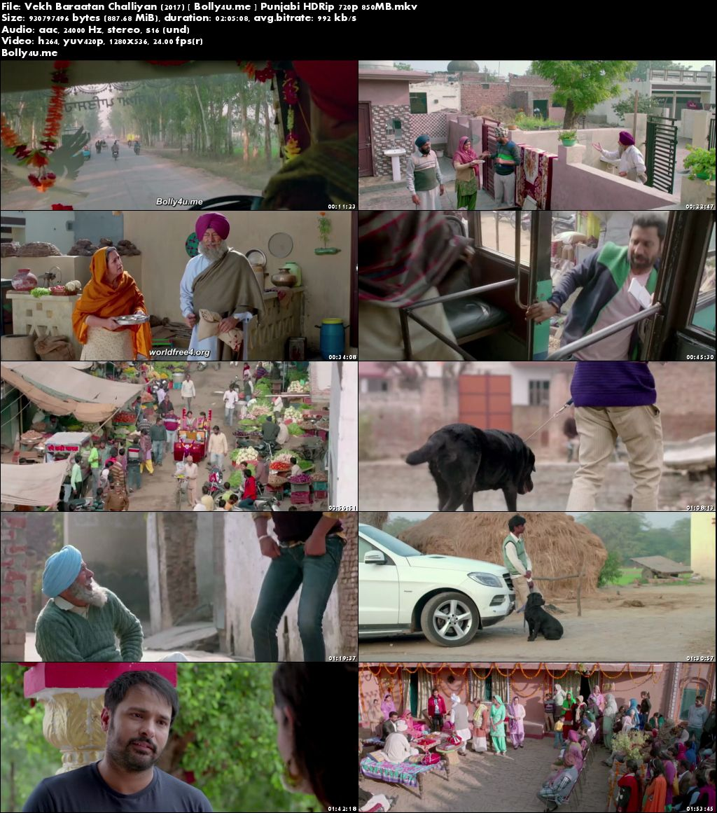 Vekh Baraatan Challiyan 2017 HDRip 350Mb Full Punjabi Movie Download 480p