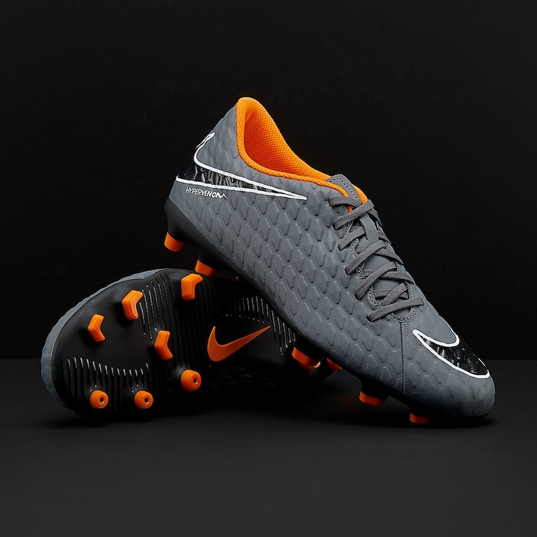 Sepatu Bola Nike Hypervenom Phantom III Club FG Dark Grey Total Orange White