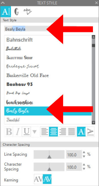 fonts, script fonts, silhouette hacks, Silhouette Studio, silhouette studio v4