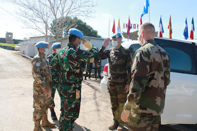 FCR CO UNIFIL Kunjungi Markas Indobatt